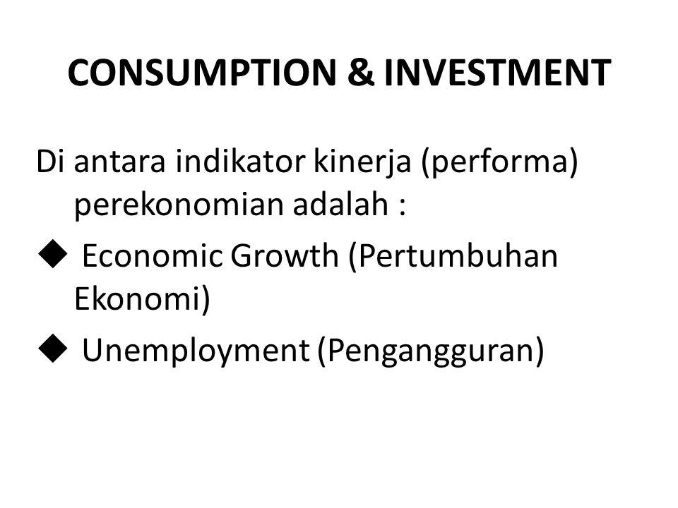 CONSUMPTION & INVESTMENT