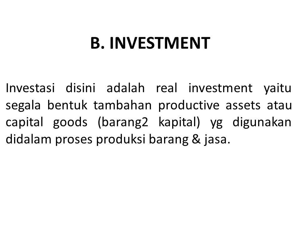 B. INVESTMENT