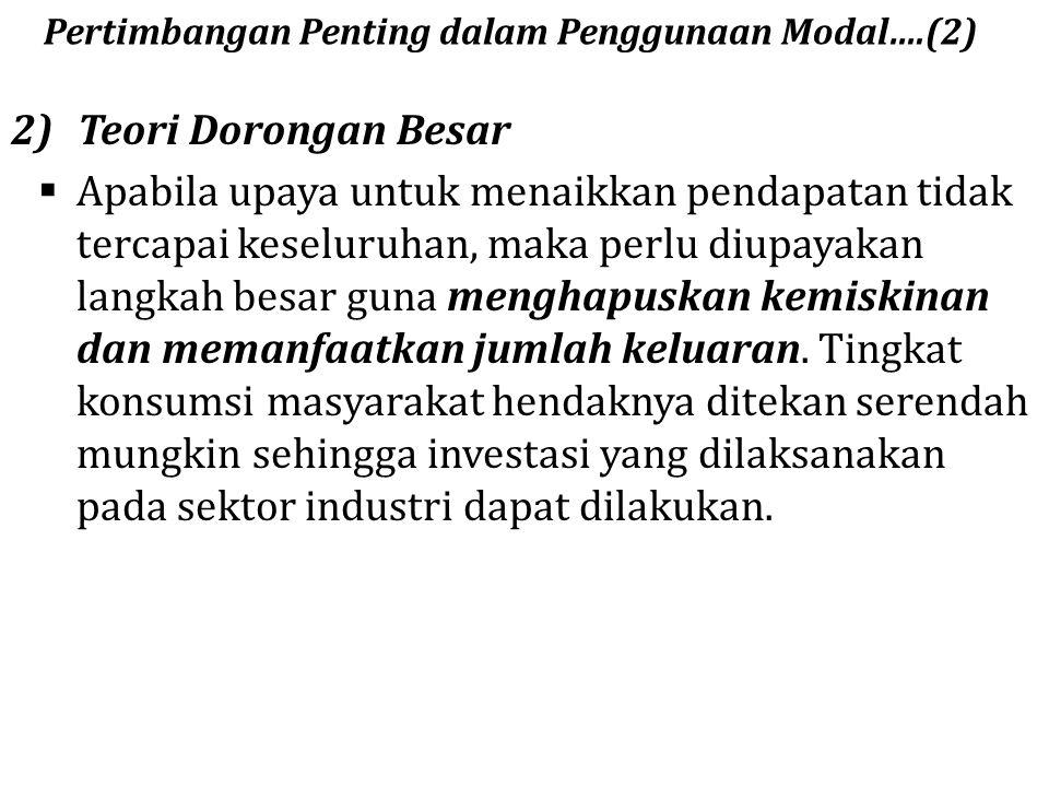 Pertimbangan Penting dalam Penggunaan Modal….(2)