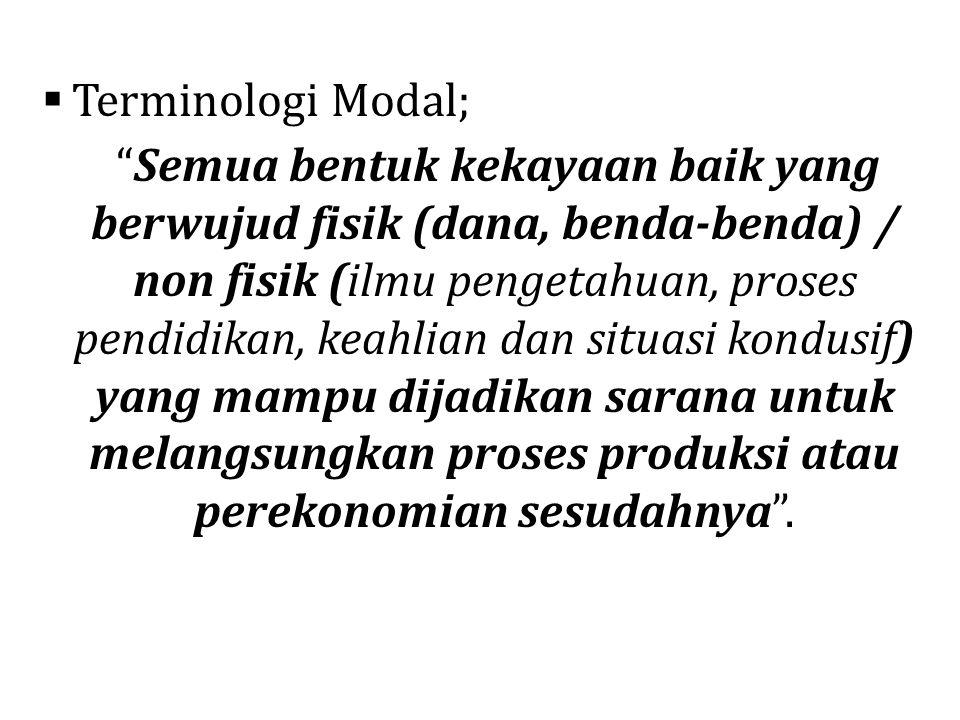 Terminologi Modal;