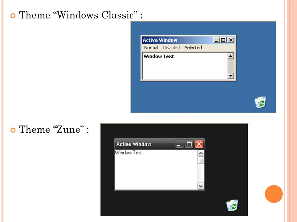 Theme Windows Classic :