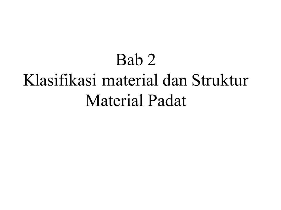 Bab 2 Klasifikasi material dan Struktur Material Padat
