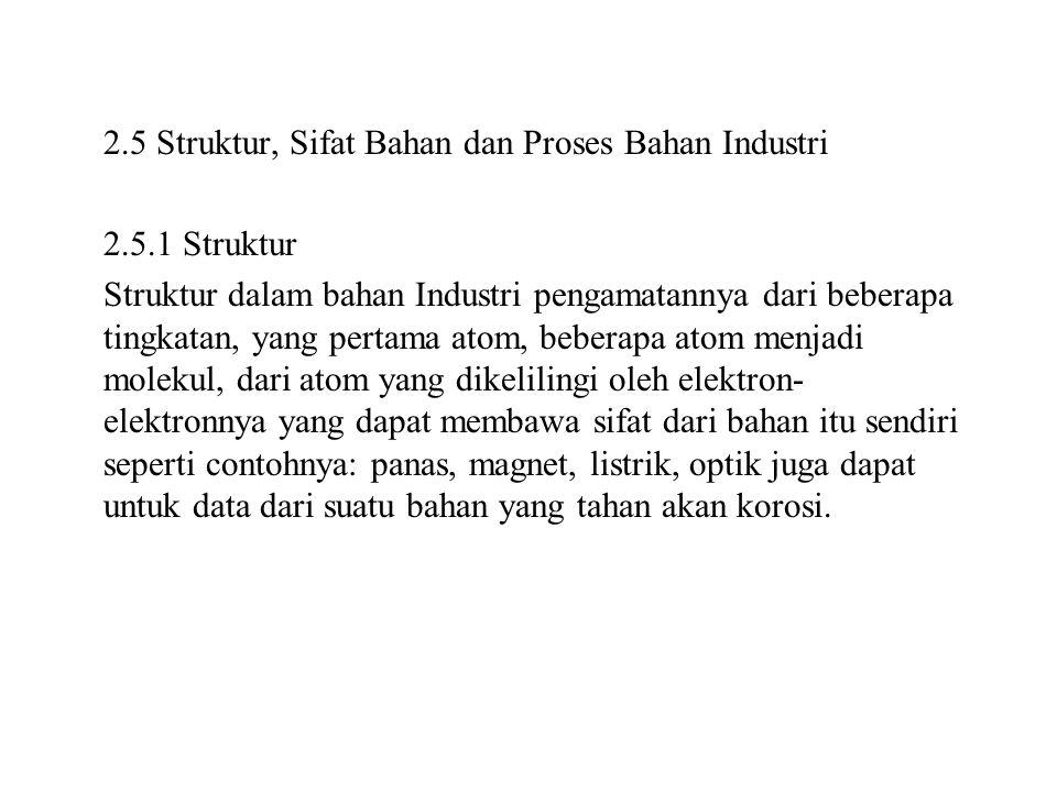 2. 5 Struktur, Sifat Bahan dan Proses Bahan Industri 2. 5