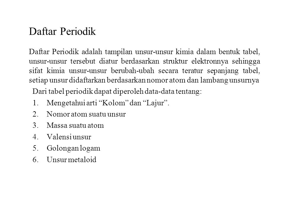 Daftar Periodik