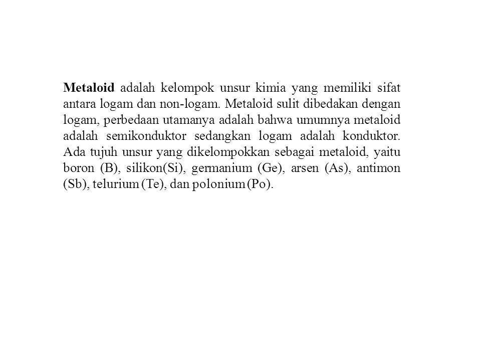 Metaloid adalah kelompok unsur kimia yang memiliki sifat antara logam dan non-logam.