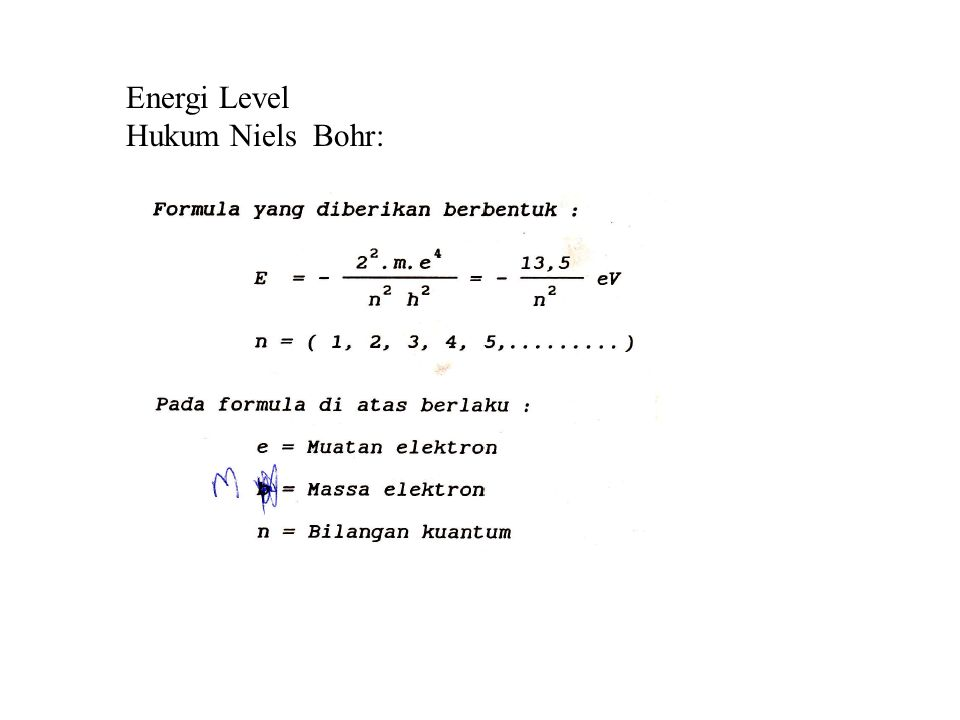 Energi Level Hukum Niels Bohr: