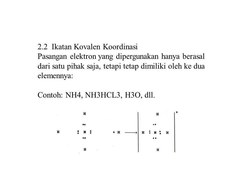 2.2 Ikatan Kovalen Koordinasi