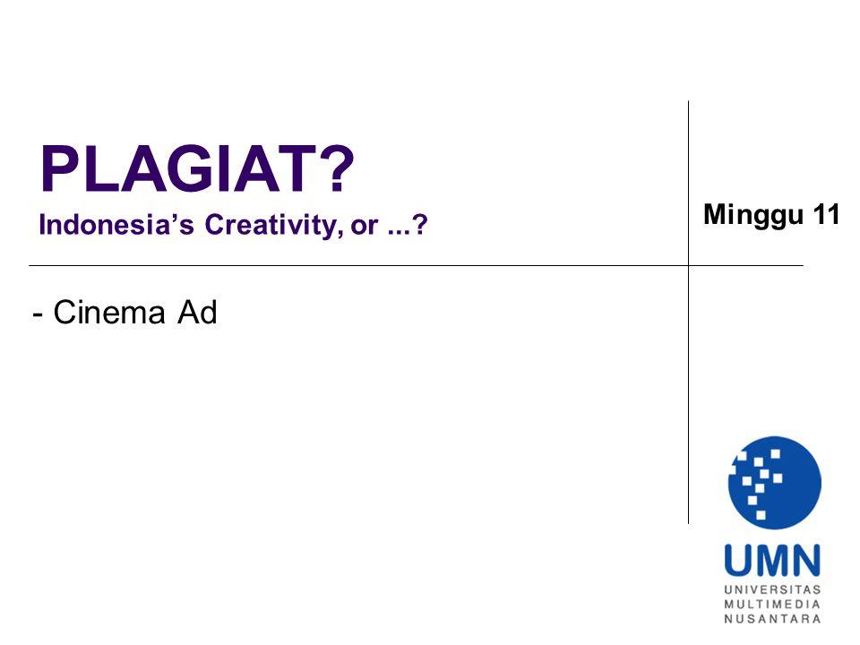 PLAGIAT Indonesia's Creativity, or ...