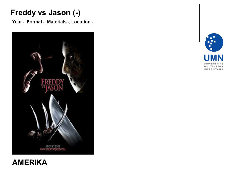 Freddy vs Jason (-) Year -, Format -, Materials -, Location - AMERIKA