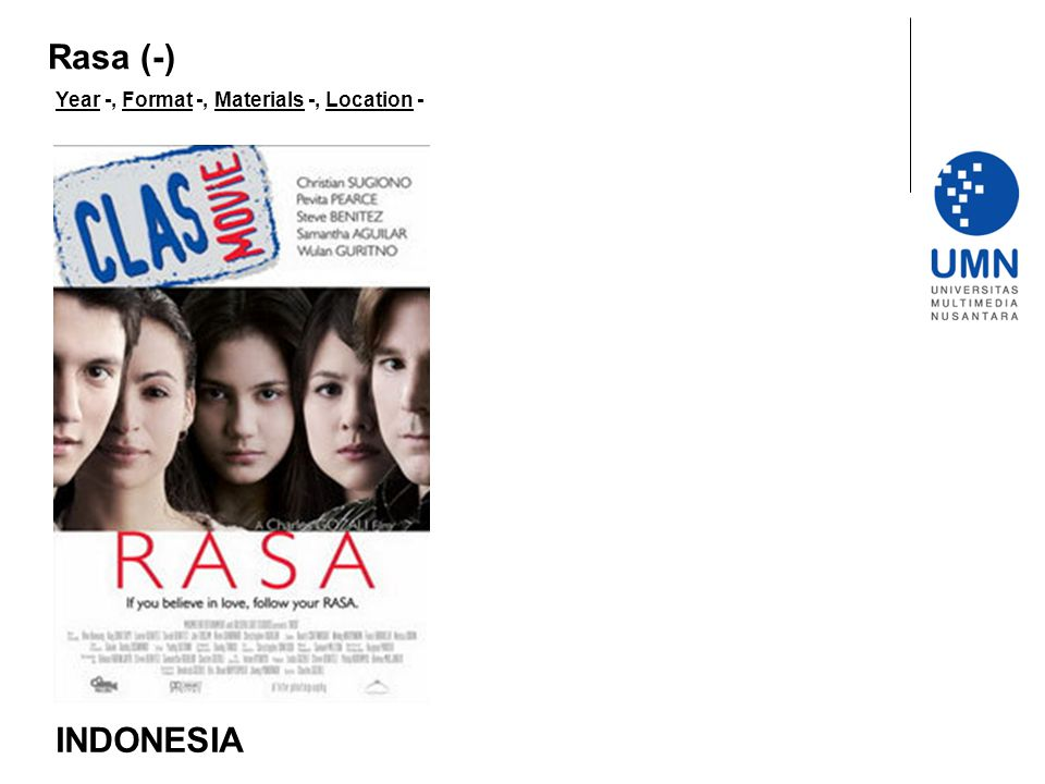Rasa (-) Year -, Format -, Materials -, Location - INDONESIA