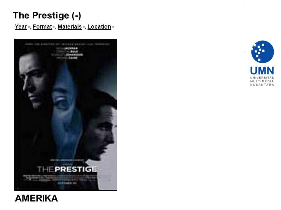 The Prestige (-) Year -, Format -, Materials -, Location - AMERIKA