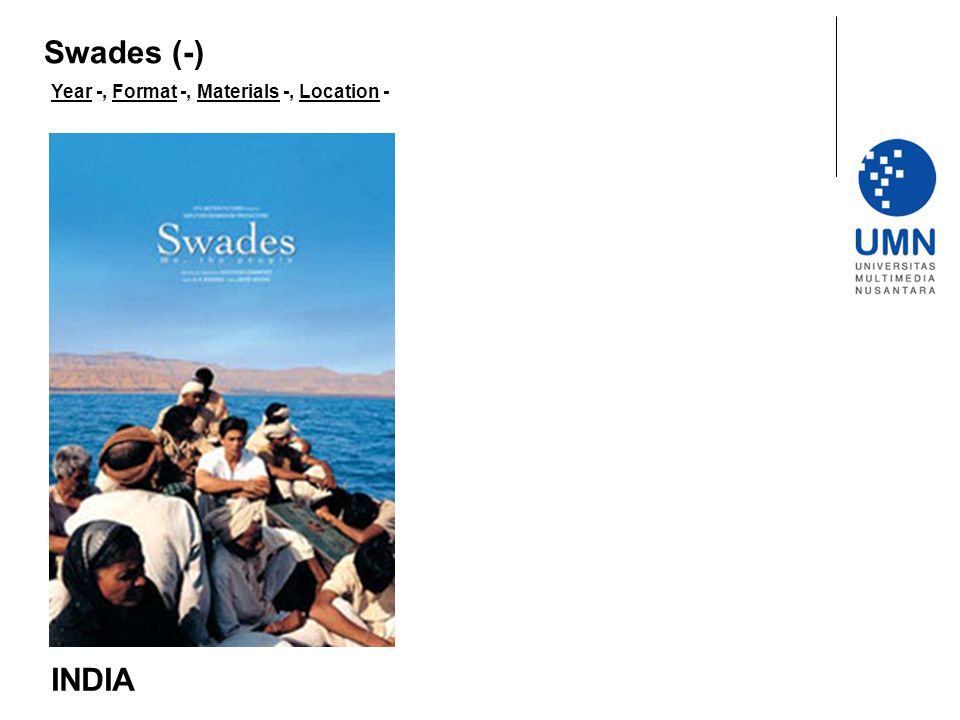 Swades (-) Year -, Format -, Materials -, Location - INDIA