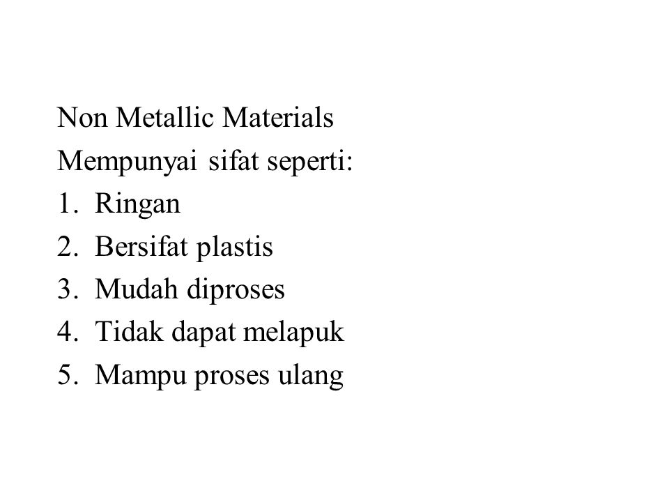Non Metallic Materials