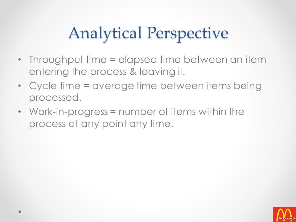 Analytical Perspective