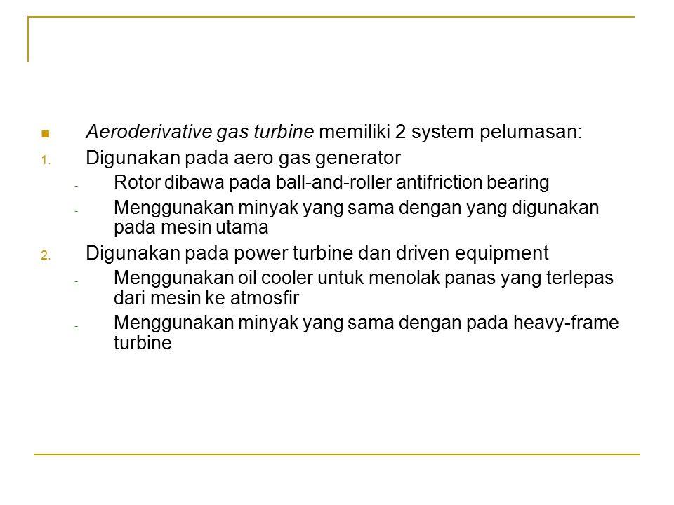 Aeroderivative gas turbine memiliki 2 system pelumasan: