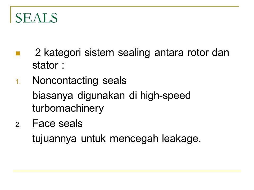 SEALS 2 kategori sistem sealing antara rotor dan stator :