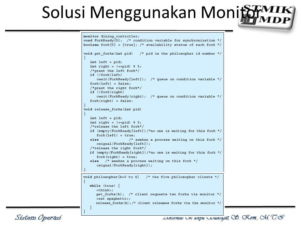 Solusi Menggunakan Monitor