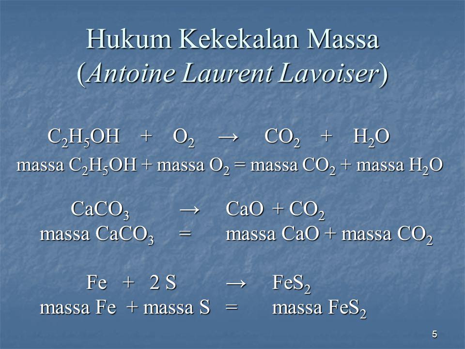Hukum Kekekalan Massa (Antoine Laurent Lavoiser)
