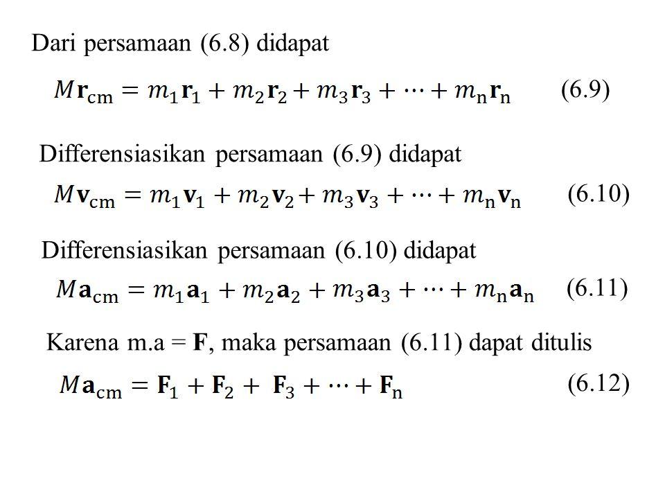Dari persamaan (6.8) didapat