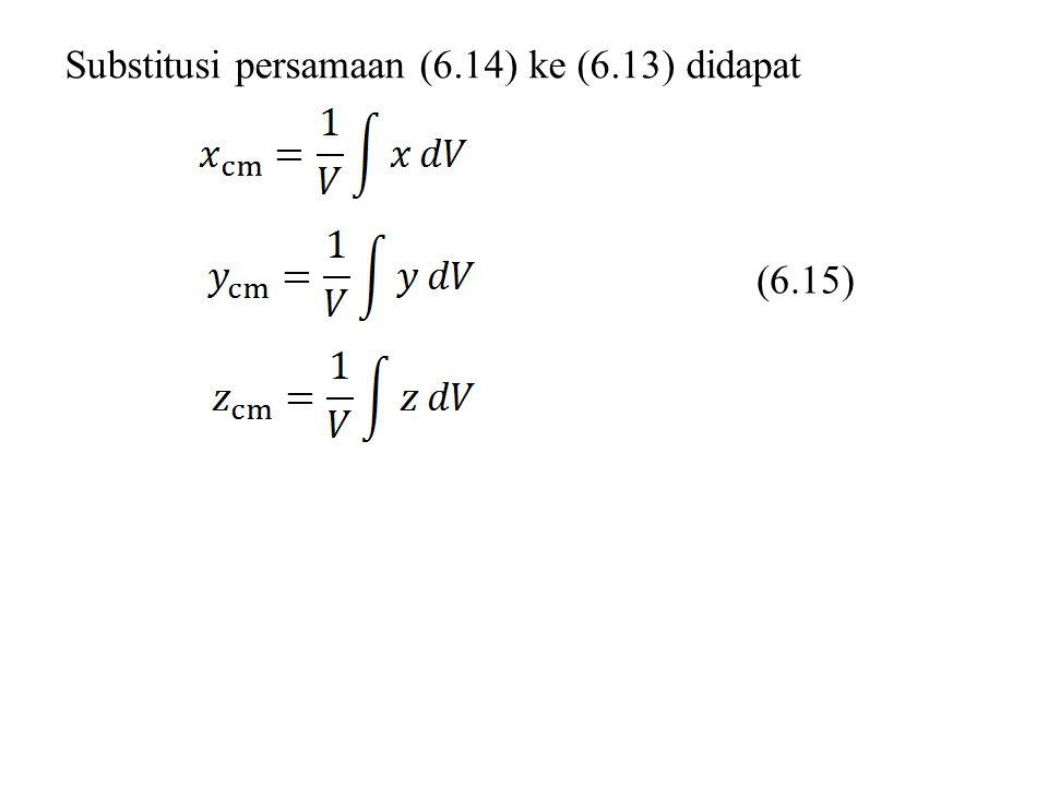 Substitusi persamaan (6.14) ke (6.13) didapat