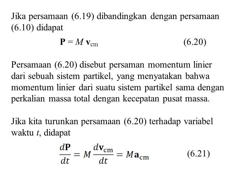 Jika persamaan (6.19) dibandingkan dengan persamaan