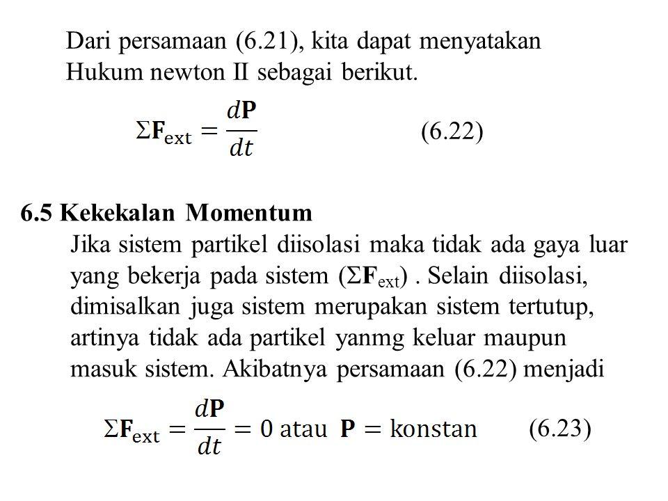 Dari persamaan (6.21), kita dapat menyatakan