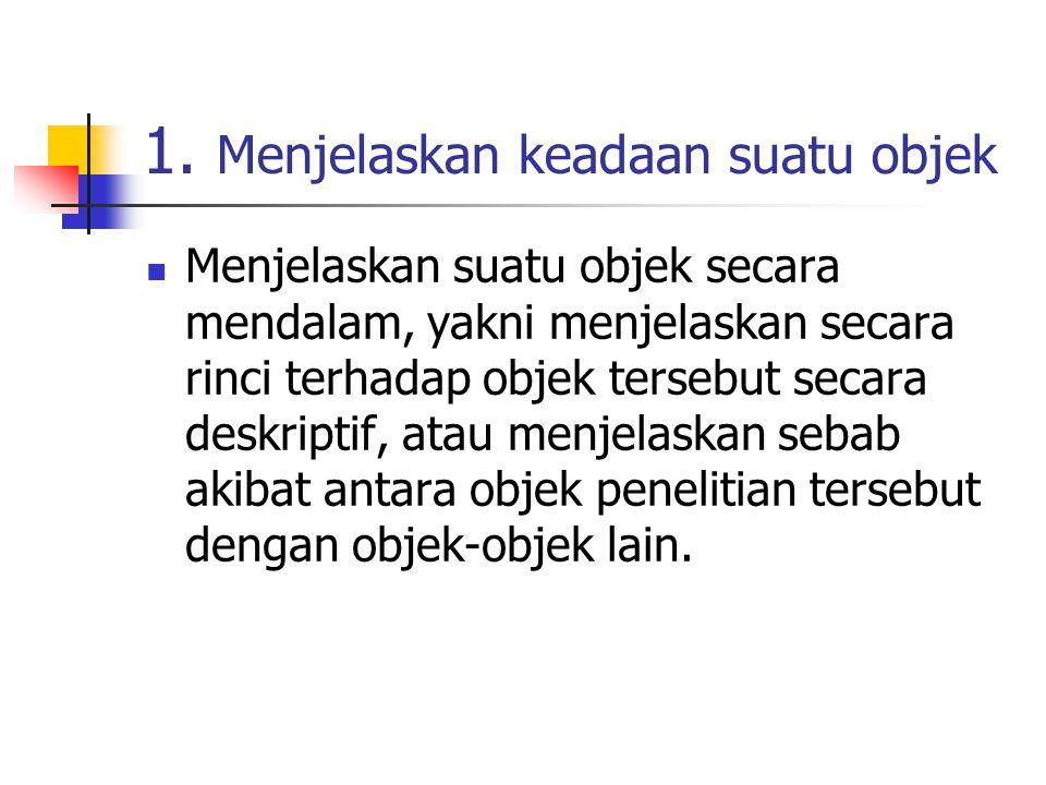 1. Menjelaskan keadaan suatu objek