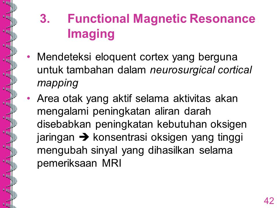 3. Functional Magnetic Resonance Imaging