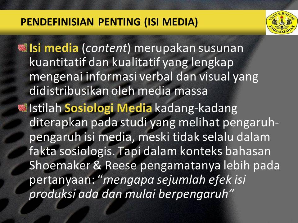 PENDEFINISIAN PENTING (ISI MEDIA)
