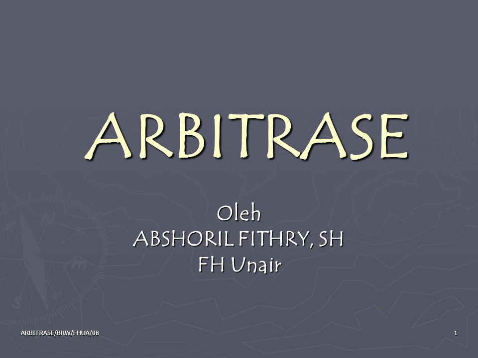 Oleh ABSHORIL FITHRY, SH FH Unair