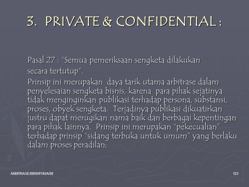 3. PRIVATE & CONFIDENTIAL :