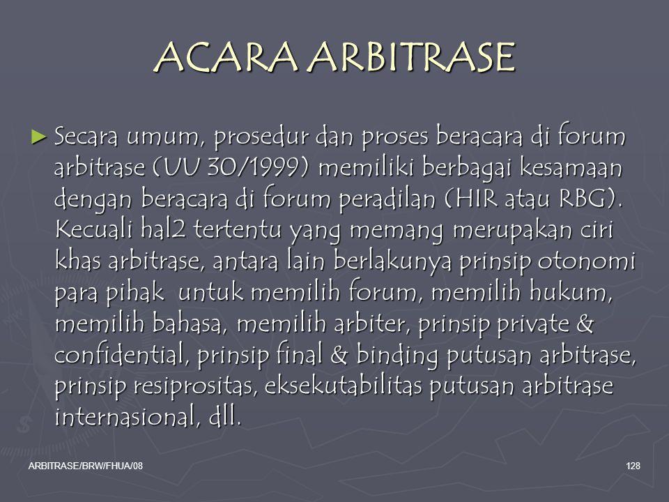ACARA ARBITRASE