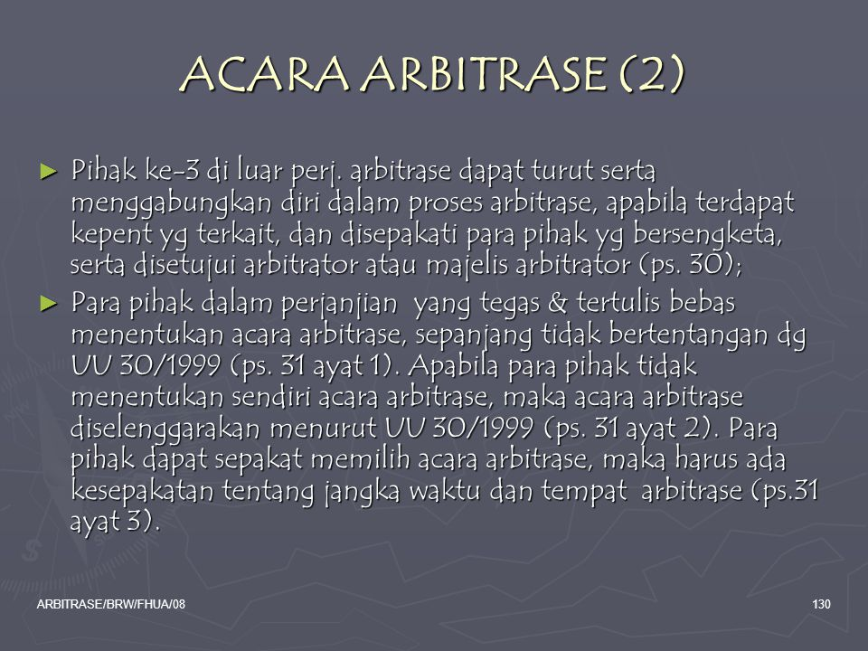 ACARA ARBITRASE (2)