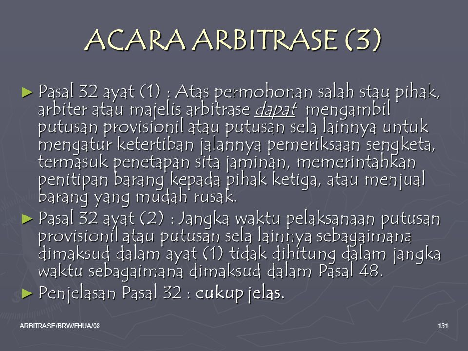 ACARA ARBITRASE (3)