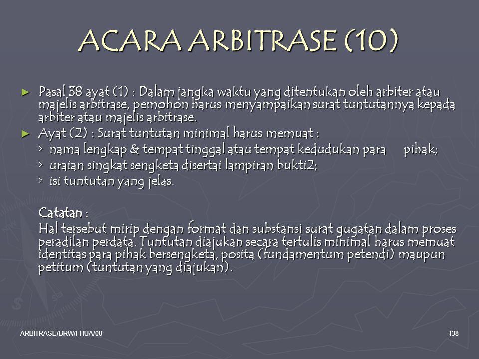 ACARA ARBITRASE (10)