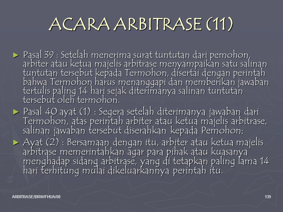 ACARA ARBITRASE (11)