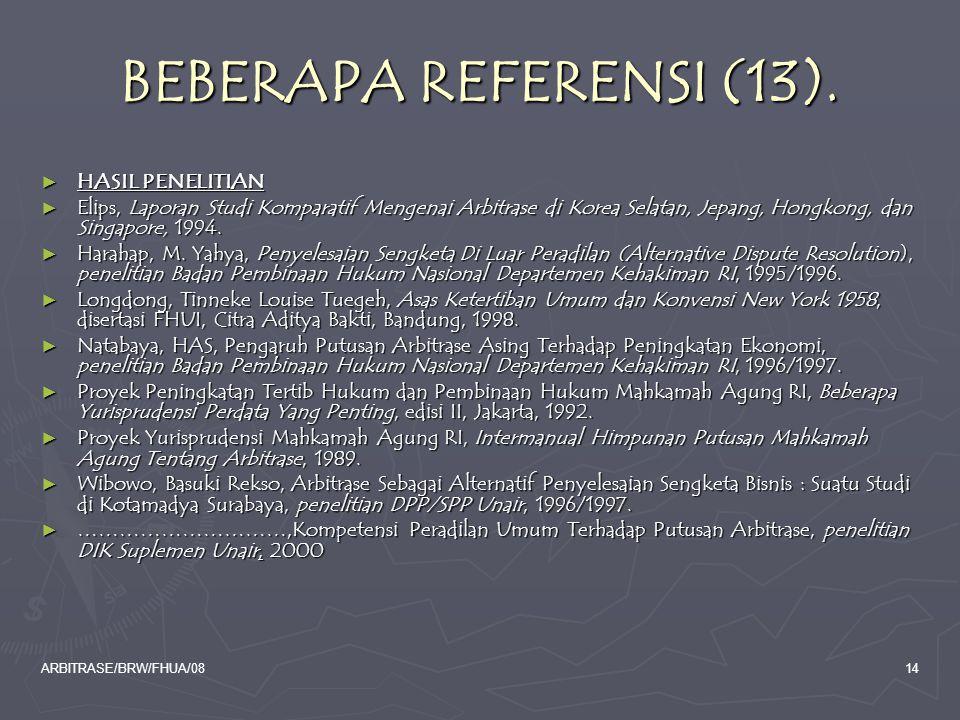BEBERAPA REFERENSI (13). HASIL PENELITIAN