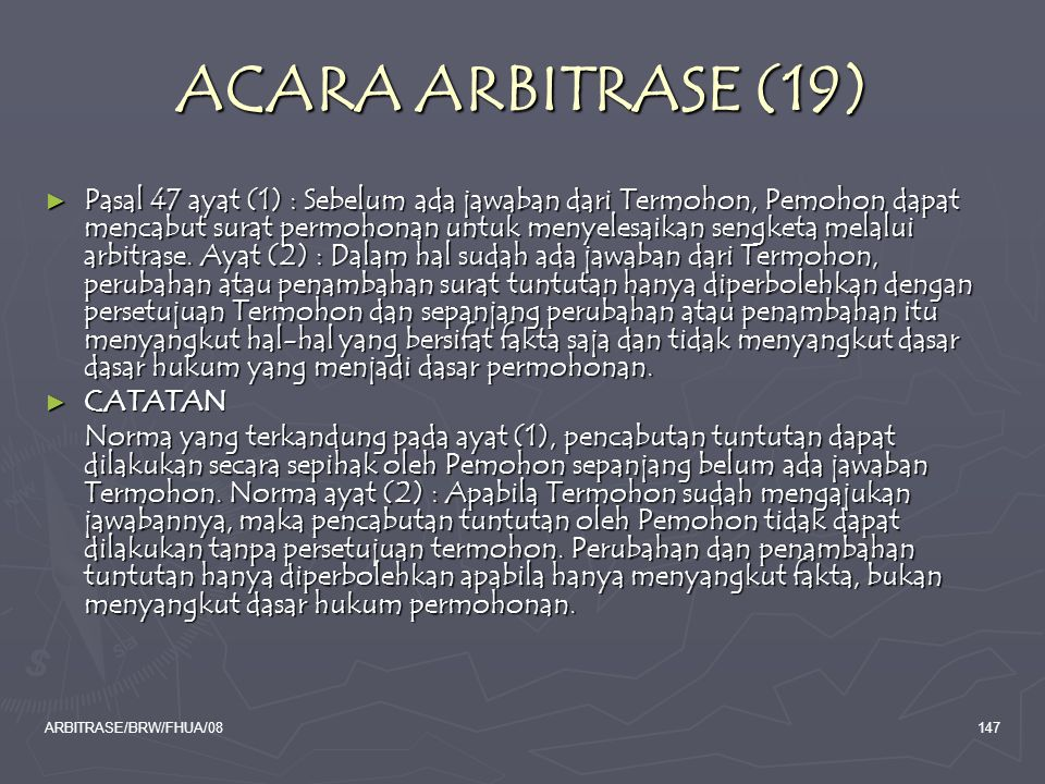 ACARA ARBITRASE (19)