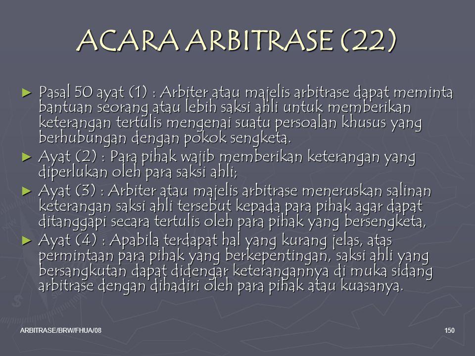ACARA ARBITRASE (22)