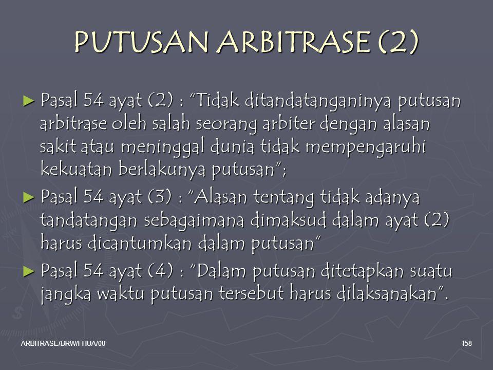 PUTUSAN ARBITRASE (2)