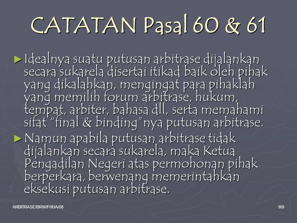 CATATAN Pasal 60 & 61