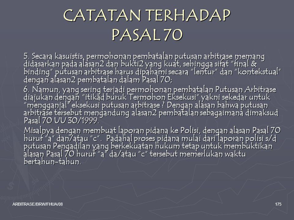 CATATAN TERHADAP PASAL 70