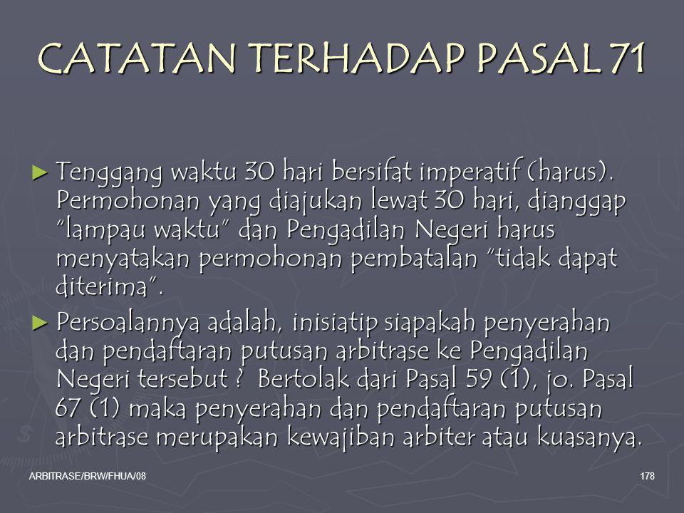 CATATAN TERHADAP PASAL 71
