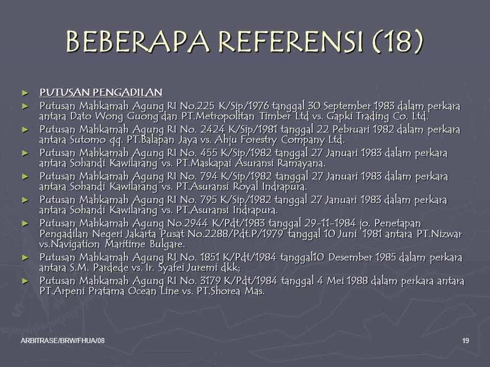 BEBERAPA REFERENSI (18) PUTUSAN PENGADILAN