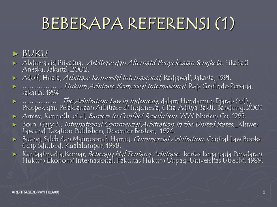 BEBERAPA REFERENSI (1) BUKU