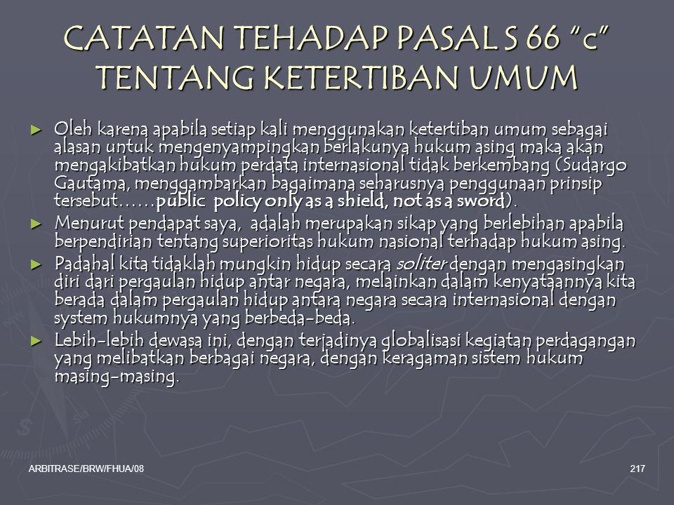 CATATAN TEHADAP PASAL S 66 c TENTANG KETERTIBAN UMUM