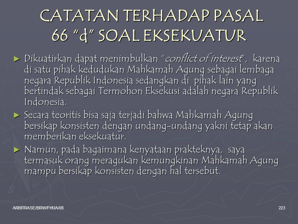 CATATAN TERHADAP PASAL 66 d SOAL EKSEKUATUR