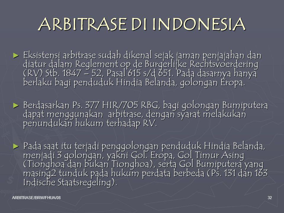ARBITRASE DI INDONESIA