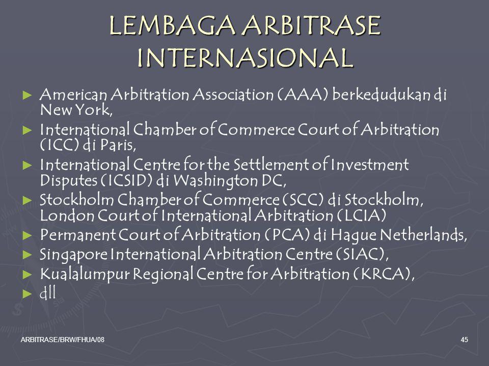 LEMBAGA ARBITRASE INTERNASIONAL