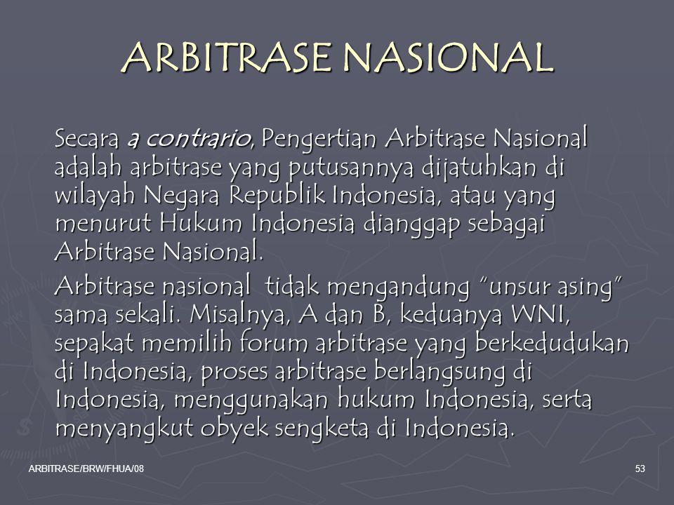 ARBITRASE NASIONAL